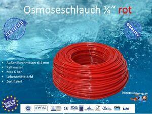 """Osmoseschlauch Osmoseleitung ROT 1/4"""" 6mm Umkehrosmose SBS Kühlschrank-Leitung"""