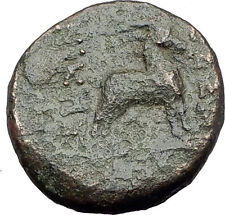 THESSALONICA Macedonia 100BC Authentic Ancient Greek Coin DIONYSUS & GOAT i63177