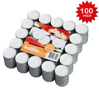 Tea light Candles Unscented White 100 count Burns Aprx. 3.5 Hour - By Bolsius
