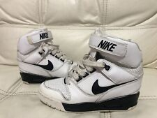 Womens Nike Air Revolution Sky Hi White Boots Hidden heel Trainers Size uk 5