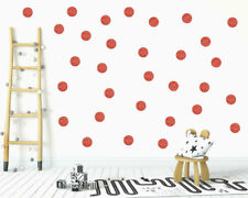 x30 Glitter Red polka dots wall stickers, Sparkling Red polka dots wall decals