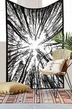 Twin Hippie Urban Forest Tree Tapestry Indian Wall Hanging Bedspread Decor Throw