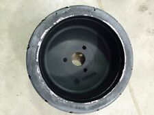 """Pair Of 12"""" X 4"""" 3 Lug Solid Rubber Tires Rims Fits Tennant Sweeper Scrubber"""