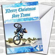 Bmx Bike Christmas Customised Card