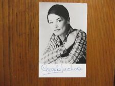 GLENDA JACKSON (A Touch of Class/Women in Love) Signed  31/2 x 51/2  B & W Photo