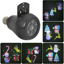 E27 Christmas Pattern LED Laser Projector Colorful Rotating Party StageLamp Bulb