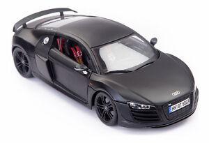 Maisto Premiere Edition 1:18 Scale Audi R8 GT In Matt Black Diecast Model Car