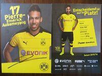 Handsignierte Autogrammkarte P.-E. AUBAMEYANG Borussia Dortmund 15/16 2015/2016