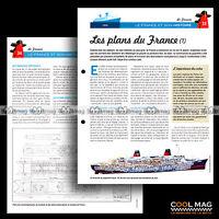 #clf019.007-08 ★ LES PLANS DU PAQUEBOT FRANCE -1- ★ Fiche Marine