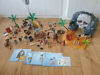 Massive Playmobil Pirate Bundle including carry case Ships Cave Island and more