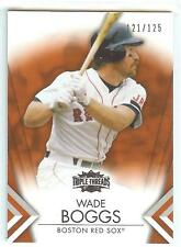 2012 Topps Triple Threads AMBER #4 WADE BOGGS Serial #121/125 RARE! RED SOX!
