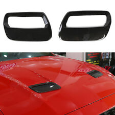 Front Hood Air Vent Molding Cover Trim For Ford Mustang 2018+ Carbon Fiber