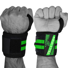 """Weight Lifting Wrist Wraps Support Gym Training Cotton Bandage Straps 18"""" GREEN"""