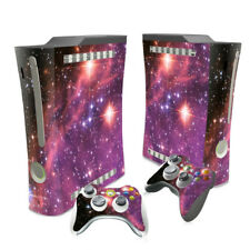 XBOX 360  ORIGINAL PURPLE   GALAXY  &  2 PAD SKINS