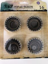Prima Marketing Sunrise Sunset Mechanicals Metal Vintage Trinkets-Bottle Caps