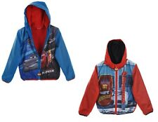 Kids Boys Disney Cars Characters Warm Jacket Rain Coat Polar Fleece Lining 2-6 Y