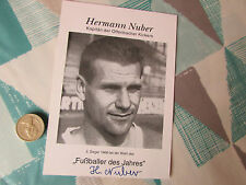 Hermann  NUBER  Kickers Offenbach Legend  ORIGINAL Hand Signed FOOTBALL Photo