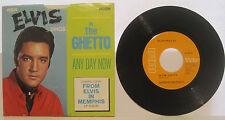 """Elvis Presley """"In The Ghetto"""" RCA 45rpm w/ PS EX Cond"""