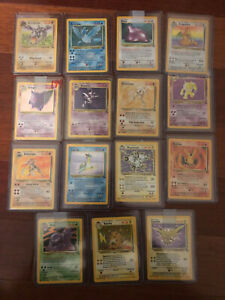 Pokemon Fossil Set 100% Complete Set of Cards All Holographics Rare HTF