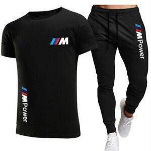 Neu BMW Autos Herren T-Shirt Shorts Set Hose Jogginganzug Sportanzug Sweat-Suit