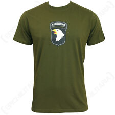Verde Oliva 101st AIRBORNE Camiseta - Ejército Militar Algodón Todas Las Tallas