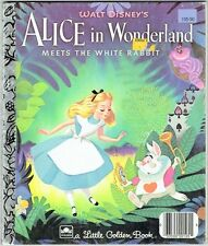 Children's Little Golden Book Disney ALICE IN WONDERLAND MEETS THE WHITE RABBIT