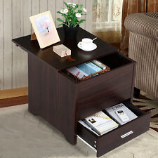 Espresso Nightstand Bedside End Table Night Stand Bedroom Furniture