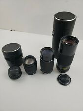 Lot Of Four (4) Vintage Camera Lenses Pentax-A Tamron Soligor Auto Promaster C
