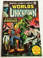 Aug 1977 Marvel Comics Worlds Unknown 2 A Gun For Dinosaur Horror Sci-Fi