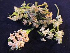 "Vtg Millinery Flower Collection Pink Wht Velvet Forget me Not 3/8"" German H3877"