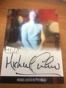 Space 1999 Series 4 Michael Culver As Pete Irving Autograph Card MC1