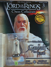 LORD OF THE RINGS Chess Collection Set 1 #3: 'GANDALF', Eaglemoss, with magazine