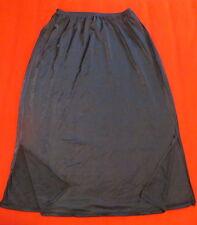 "OLGA - Black Nylon Lace Trimmed Half Slip - Size Med Tall - Style #937 – 25"" Lon"