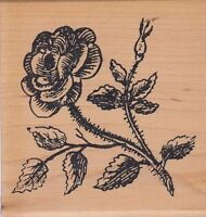 """claudia rose print works  Wood Mounted Rubber Stamp 3 x 3""""  Free Shipping"""