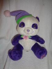 "Strawberry Shortcake Panda Bear almond tea purple white 8"" stuffed plush 2006"