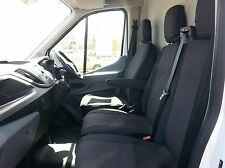FORD TRANSIT CUSTOM 2013+ SEAT COVERS PREMIUM BLACK FABRIC TAILORED TO FIT RHD
