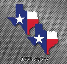 2x Texas Shape State Flag Sticker Die Cut Decal american USA Lonestar