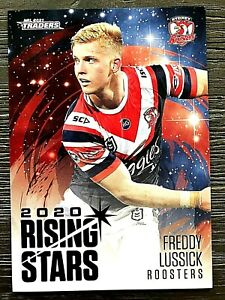 2021 NRL TRADERS '2020 RISING STARS' TRADING CARD - FREDDY LUSSICK/ROOSTERS