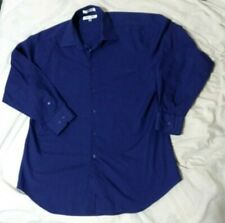 Givenchy Royal Blue Men long sleeve Dress Shirt sz 16 32/33