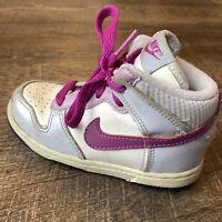 Toddler Nike Swoosh High Dunk Magenta/grey/white High Top RARE vintage SZ 9C