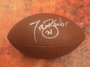 GFA New York Giants Running Back TIKI BARBER Signed NFL Football T1 COA