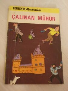 TINTIN - King Ottokar's Sceptre  1973 TURKISH MEGA RARE TURKEY ALFA