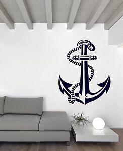 Vinyl Decal Wall Sticker Sea Ocean Nautical Anchor Stencil Vector (n700)