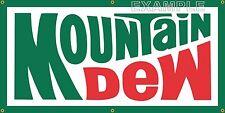 MOUNTAIN DEW OLD SCHOOL RETRO 1970's SIGN REMAKE BANNER SHOP GARAGE ART 2 X 4