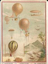 Chromo Aérostation aerostacion ballon dirigeable mongolfière