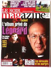 Soir Magazine 20/01/2010; Album privé de Mr Léonard/ Haïti/ Tueurs en série