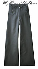 Vintage Cracker Jack U.S. Navy Bell Bottom 13 Button Dress Blue Pants / Trousers
