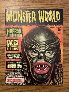 MONSTER WORLD # 4 1965 F/VF WARREN Horror In The Lighthouse Christopher Lee