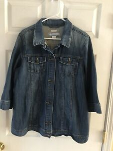 Old Navy Stretch Maternity Jean Jacket Size XL Button Front Trucker