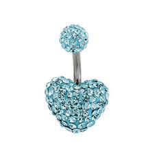 Anillos de bisutería de cristal de cristal de color principal azul